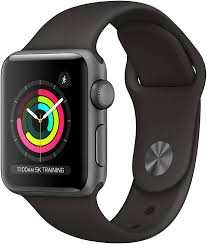 Amazon.com: Apple Watch Series 3 (GPS, 38mm) - Space Gray Aluminum Case  with Black Sport Band