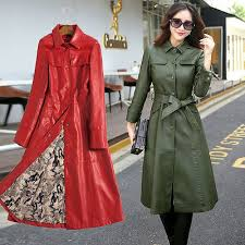 plus size motorcycle long coat trench