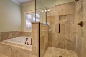 half wall tile shower design ideas