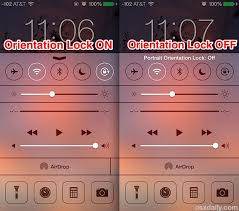 screen rotation in ios