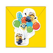 Pack De 6 Invitaciones Minions Party Envio 24 Horas