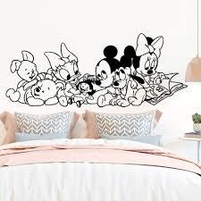 Disney Cartoon Baby Mickey Minnie Mouse Winne Vinyl Wall Stickers For Kids Room Bedroom Accessories Art Decor Wall Decals Wall Stickers Aliexpress