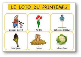 le loto du printemps pour la maternelle