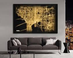 map large horizontal wall art
