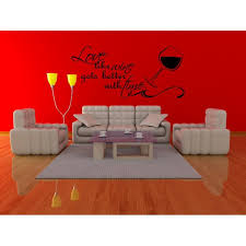 Love Like Wine Gets Better With Time Couples Vinyl Wall Decal Quotes Wall Stickers Love Decals Home Decor Decals J259 Walmart Com Walmart Com