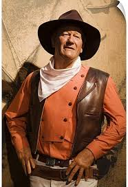 Amazon Com Canvas On Demand John Wayne Madame Tussauds Wax Museum At Venetian Casino Wall Decal 20 X30 Home Kitchen