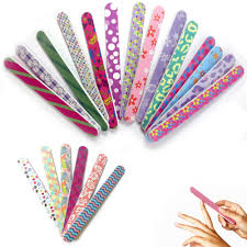 12 double sided nail file emery board