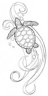 Seaturtle2 Schildpad Tatoeages Zeeschildpadden En Kleurplaten