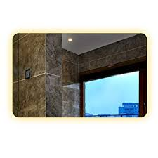 smart mirror touch screen led bathroom