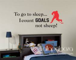 Hockey Wall Decal Hockey Decal Custom Boys Wall Decal Etsy Boys Hockey Bedroom Sports Wall Decals Hockey Bedroom