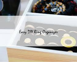 diy easy 5 step ring organizer oh