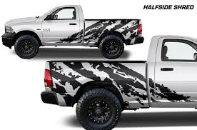 Dodge Ram 1500 2500 2009 2018 6 5 Bed Custom Vinyl Decal Kit Halfs Factory Crafts