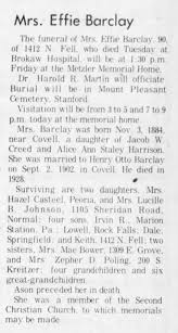 Effie (Harrison) barclay obit - Newspapers.com