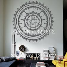 Free Shipping Cool Wall Art Decal Yoga Mandala Om Indian Buddha Wall Decal Home Decor Wall Sticker Size 60x60cm Hd 28 Indian Home Decor Olivia Decor Decor For Your Home And Office