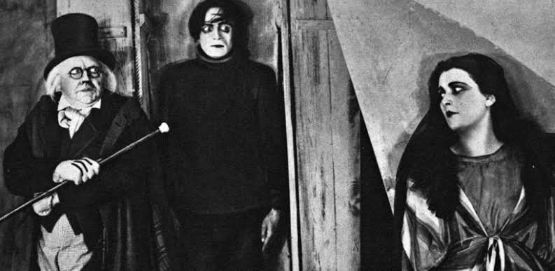 """Atores no filme """"Gabinete do Doutor Caligari"""", um clássico do expressionismo alemão."""