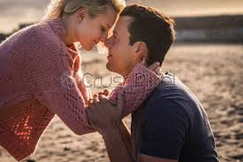 closer couple in beautiful love moment