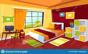 Teenager Bedroom Cartoon Illustration Of Teen Girl Or Boy Room Interior Furniture Background Stock Illustration Illustration Of Comfort Perspective 127312820