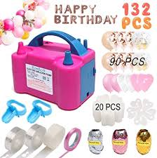 Amazon.com: Balloon Pump,132 PCS Electric Balloon Blower 110V 600W ...