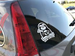 New Driver Sloth Vinyl Decal Vinyl Sticker Car Windshield Etsy