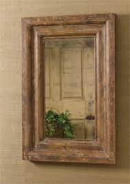 large framed wall hanging wood mirror