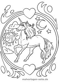 Mewarnai 212 Kleurplaat Unicorn Met Hoorn