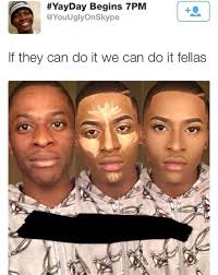 before and after contour memes