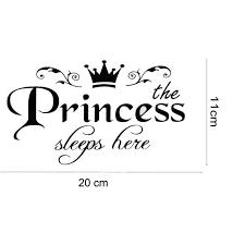 Princess Sleeps Here Wall Decal Ondecal