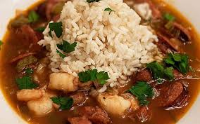 chef Paul Prudhomme with seafood gumbo ...