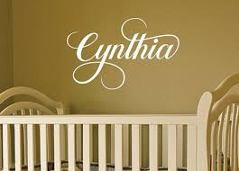 Baby Girl Nursery Wall Decal Kids Vinyl Wall Art Stickers Baby Name Wall Sticker