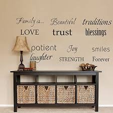 Amazon Com Family Wall Decal Set Of 12 Family Words Quote Vinyl Family Wall Decal Family Room Art Decoration Living Room Decor Decoration For Home Decor Home Kitchen
