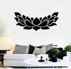 Vinyl Wall Decal Lotus Flower Yoga Center Floral Stickers Mural 465ig Ebay