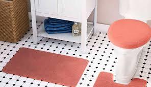 bath mats ruffle cotton inch rug