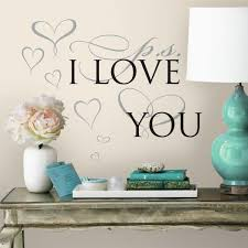 York Wallcoverings 5 In X 11 5 In Ps I Love You 8 Piece Peel And Stick Wall Decal Rmk3283scs The Home Depot