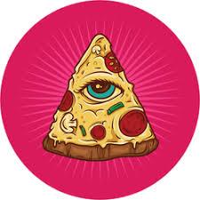 All Seeing Eye Illuminati Pizza Sticker