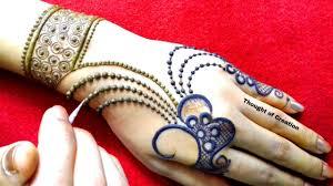 mehndi design easy jewellery