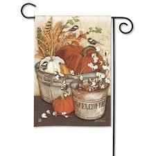 studio m farmhouse pumpkins garden flag