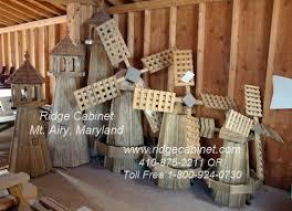 wind power free wooden garden windmill