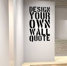 personalised wall art decal design your own quote professional