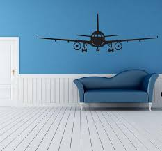 Black Airplane Wall Art Mural Decor Sticker Boys Kids Room Wallpaper Decal Poster Transfer Wall Graphic Wall Appique Big Stickers For Walls Big Wall Decals From Magicforwall 2 Dhgate Com
