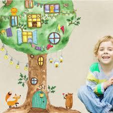Cartoon Tree House Vinyl Wall Stickers Gallery Wallrus Free Worldwide Shipping