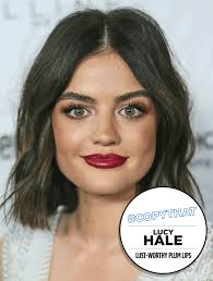 lucy hale s worthy plum lips are a