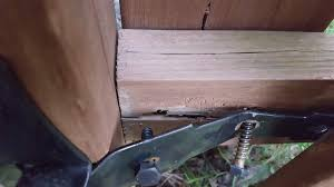 How To Repair This Hefty Wooden Fence Gate Home Improvement Stack Exchange
