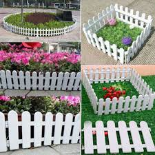 Miniature Fairy Garden White Picket Fence Edge Outdoor Home Picket Fence 15 50cm White Garden Fence White Gardens Miniature Fairy Gardens