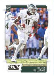 Amazon.com: 2019 Score Football #403 Preston Williams Colorado State Rams  Rookie Official NFL Trading Card From Panini Dolphins: Collectibles & Fine  Art