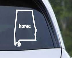 Alabama Home State Outline Al Yellowhammer Die Cut Vinyl Decal Sticker Texas Die Cuts