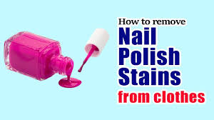 remove nail polish sns from clothes