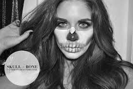 half face skull makeup you saubhaya