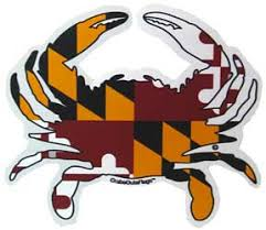 The Maryland Store Maryland Flag Crab Sticker