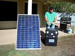 portable solar generator no gas no
