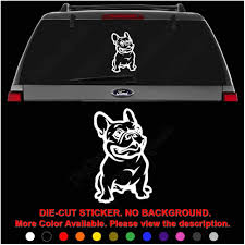 Handmade Products Multiple Sizes Available With 4 Color Options Pet Decal French Bulldog Custom French Bulldog Car Decal With Your Pets Name Decals
